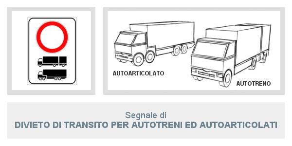Segnale Divieto   Di Transito per autotreni ed autoarticolati