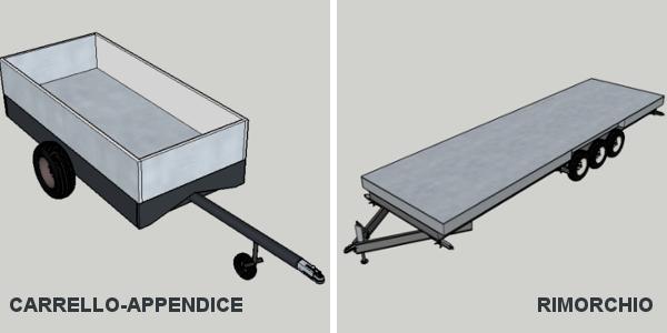 Differenze tra carrello appendice e rimorchio