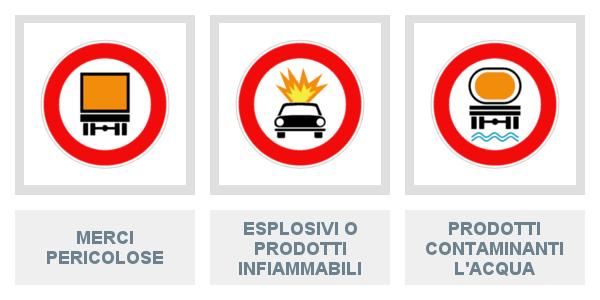 Merci pericolose, esplosivi o prodotti infiammabili e contaminanti acqua