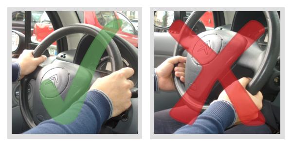 Come mettere le mani sul volante