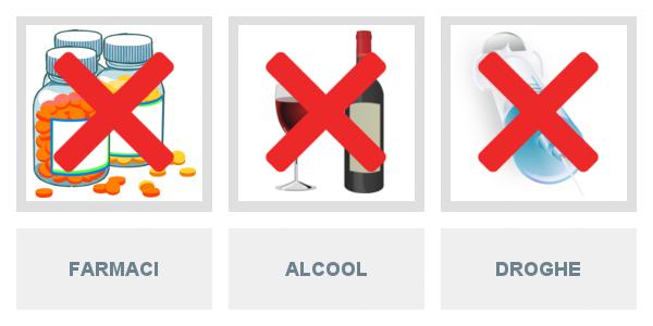 Guida in relazione alle qualità e condizioni fisiche e psichiche, alcool, droga, farmaci e primo soccorso