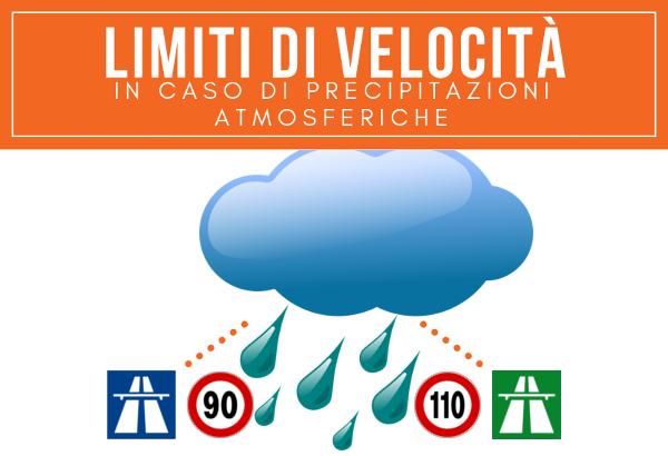 Limiti Di Velocità in caso di precipitazioni atmosferiche