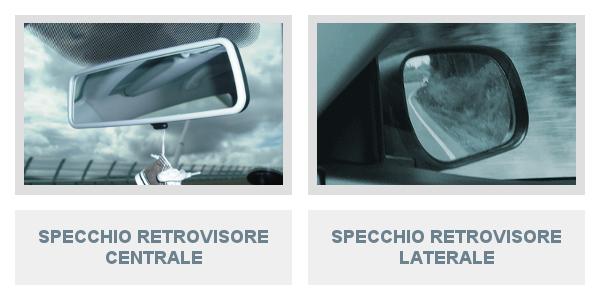 Uso degli specchi retrovisori