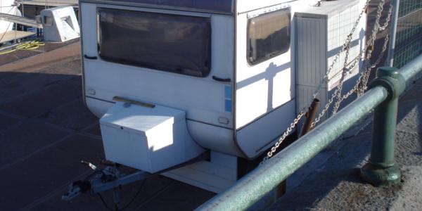 Traino di caravan (roulotte)