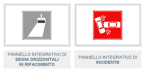 Pannelli integrativi di Segni Orizzontali In Rifacimento e di Incidente