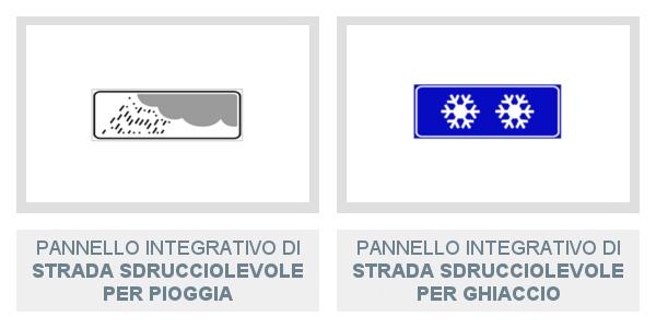 Pannelli integrativi di strada sdrucciolevole Per Pioggia e Per Ghiaccio