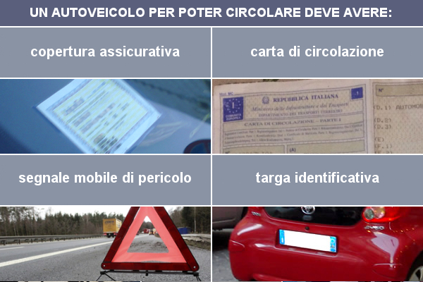 Documenti e dispositivi di cui un autoveicolo deve essere munito per poter circolare