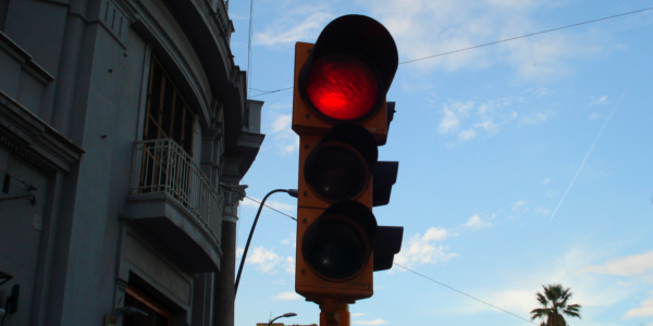 Luce rossa del semaforo