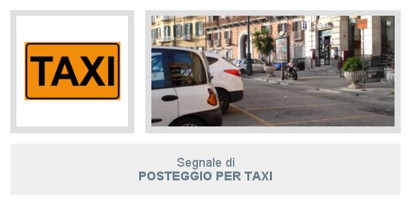Segnale di Posteggio Per Taxi
