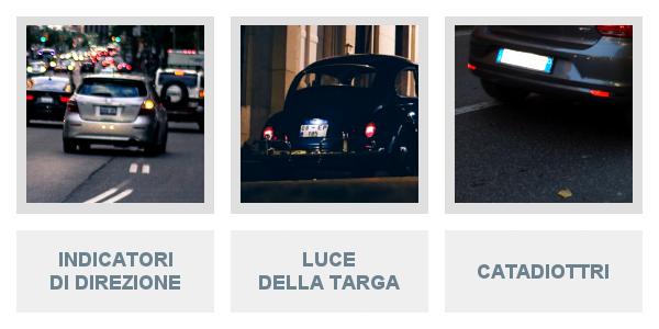 Indicatori Di Direzione, Luce Della Targa e Catadiottri